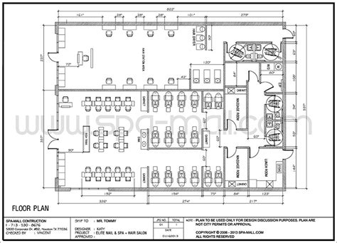 hair salon layout cad salon design layout