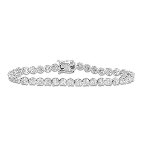 1 Ct Tw Tennis Bracelet by 1 Ct T W Tennis Bracelet In 10k White Gold
