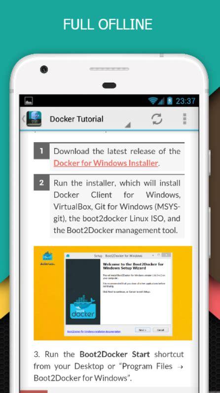 docker tutorial online docker tutorial free android apps on google play
