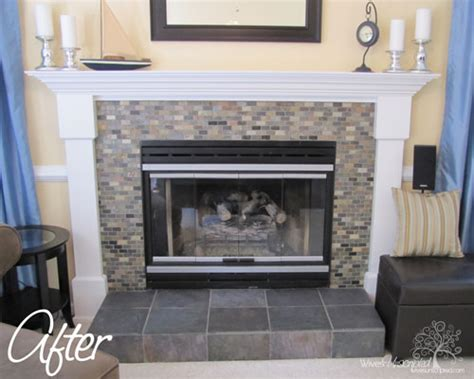 Peel And Stick Tile Around Fireplace by Fabulous Fireplace Backsplashes