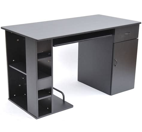 Home Office Computer Desk Study Pc Table W Storage Computer Desk With Printer Storage