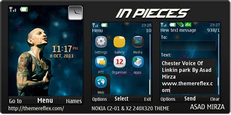 nokia c2 heart themes tema nokia c2 01 x2 00 240x320 dengan media player