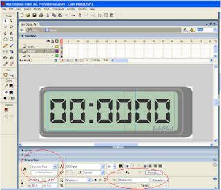 membuat jam digital dengan flash membuat jam digital dengan flash dimas zone