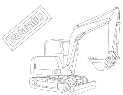 mini excavator coloring pages 22 dessins de coloriage pelle mecanique 224 imprimer