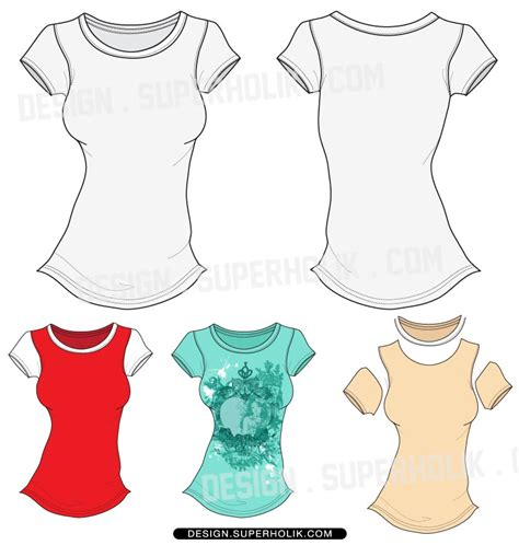 layout t shirt vector 19 women basic shirt vector template images women s t