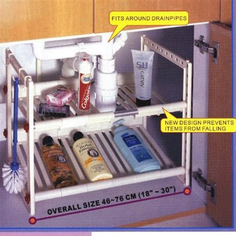 under cabinet organizer bathroom buy black metal expandable over the sink shelf storage
