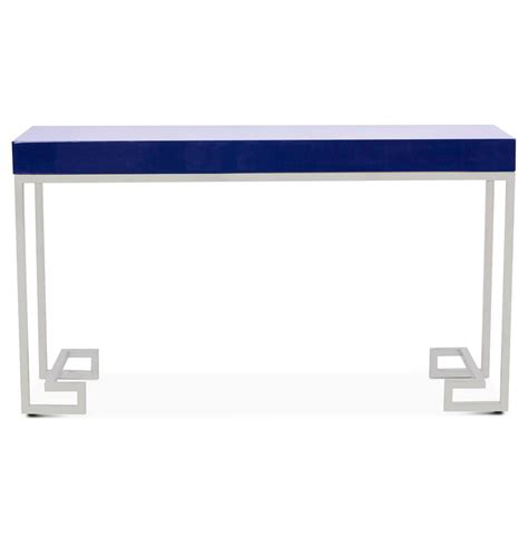 navy console table davinci regency navy blue silver console table