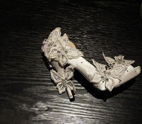 Handmade High - butterfly lace wedding shoes lace prom shoes lace bridal