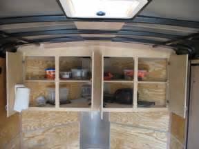 v nose enclosed trailer cabinets kit4en