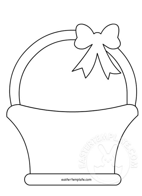 easter bunny basket template printable easter basket pattern easter template