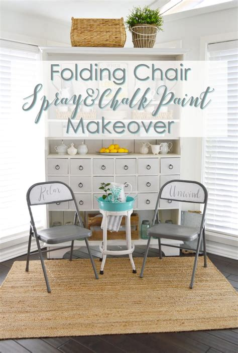 Spray Painting Metal Dining Room Chairs Spray And Chalk Paint Folding Chair Makeover Fox Hollow
