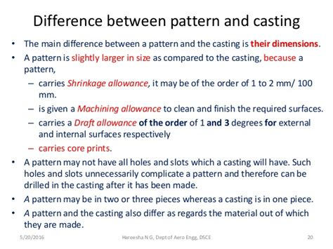 Pattern And Casting Difference | introduction to manufacturing process