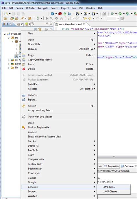 jaxb tutorial reading xml file trabajando con jaxb y eclipse adictosaltrabajo