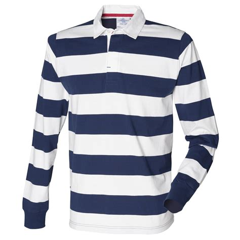 7 Striped Tops I by New Front Row Mens Slim Fit Casual Striped Cotton Rugby