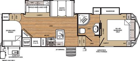 cing trailer floor plans sierra rv floor plans 2017 forest river sierra ht 3275dbok