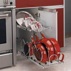 Kitchen Cabinet Pot Organizer Rev A Shelf 2 Tier Cookware Organizer Chrome 5cw2 1222 Cr Cabinetparts