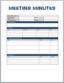 Free Templates For Meeting Minutes by Minutes Of Meeting Template Xls