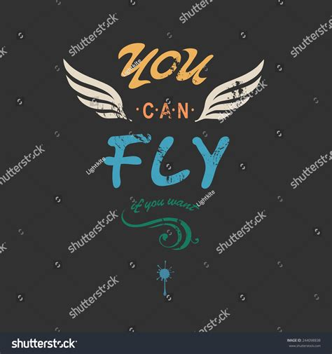 you can fly you can fly creative t shirt apparel print poster design