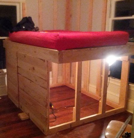 elevated bed frame plans diy elevated bed frame with storage underneath 07 jpg 448