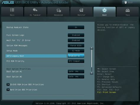 Asus Laptop Bios Uefi Boot disable legacy boot mode and enable uefi