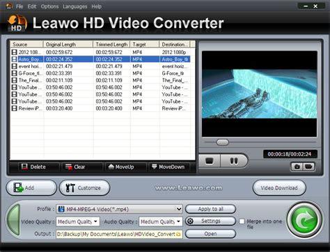 video format converter hd leawo hd video converter tailor videos to powerpoint 2010