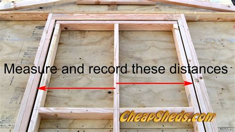 build  shed door youtube