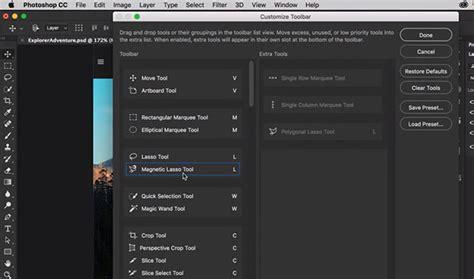 barra de herramientas superior photoshop adobe photoshop cc updated with custom toolbars touch ui