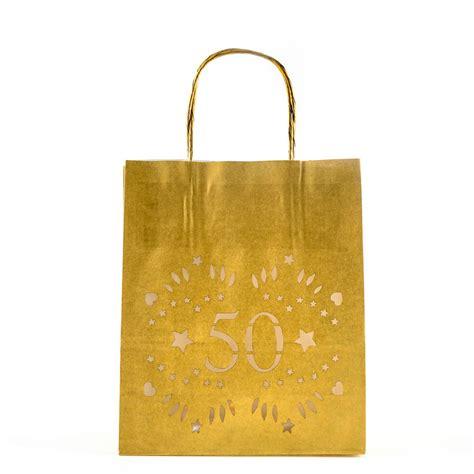 50th birthday decor luminarias lantern bags by