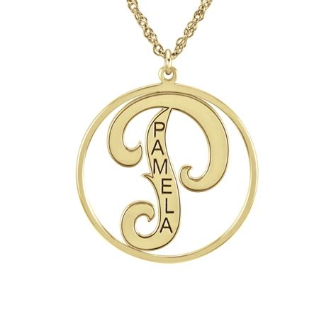 Cutout Pendant cutout initial pendant 25mm personalized jewelry