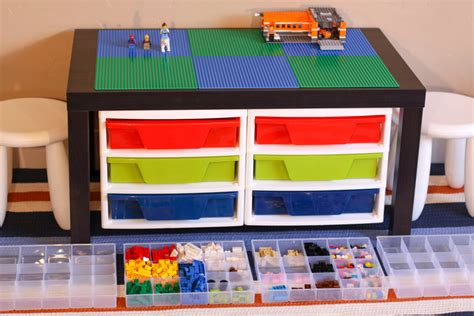 3 Drawer Lego Storage by Black Large Lego 174 Table With 2 Attached 3 Drawer Storage