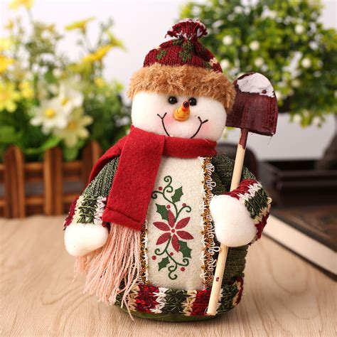 lovely christmas santa claus reindeer snowman doll xmas
