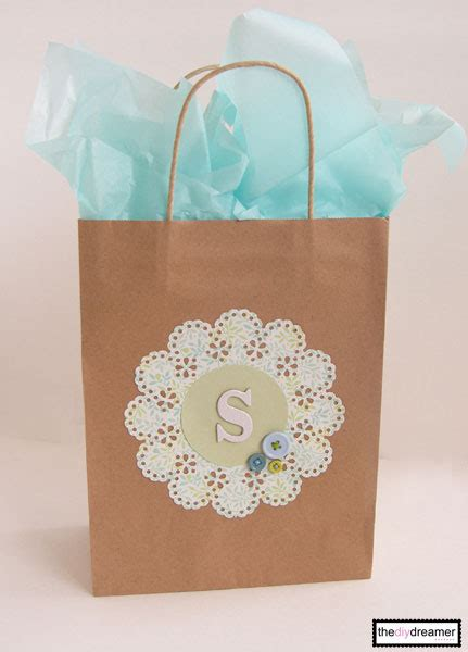 craft paper personalized gift bag  diy dreamer