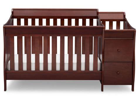 delta bentley changing table black cherry bentley s crib n changer delta children s products