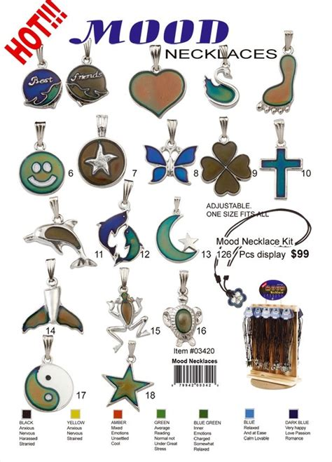 mood necklace color meanings 35 best mood rings mood chart images on mood