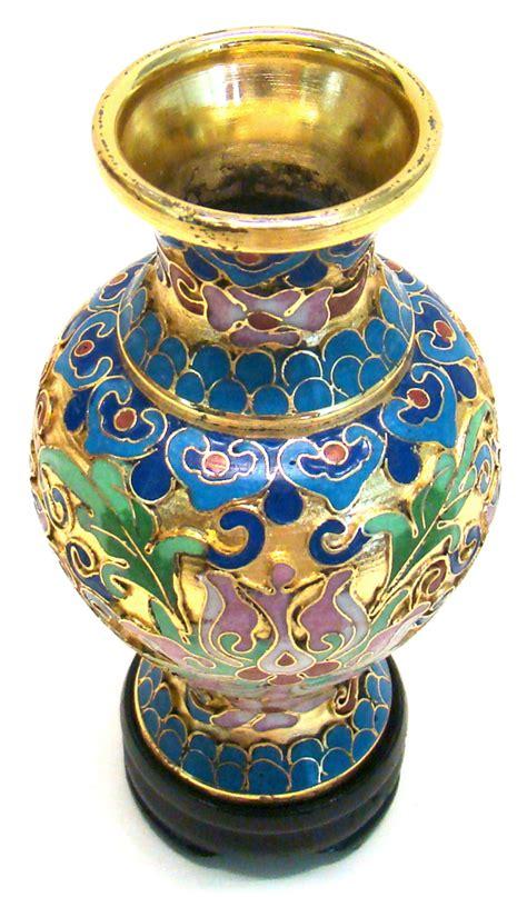 cloisonne vase wealth flowers vases