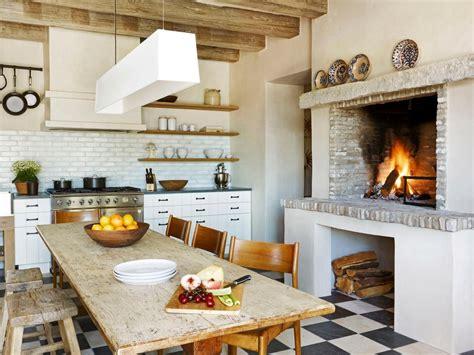 Superb Cheap Bathroom Countertops #10: Farmhouse-kitchen-fireplace.jpg