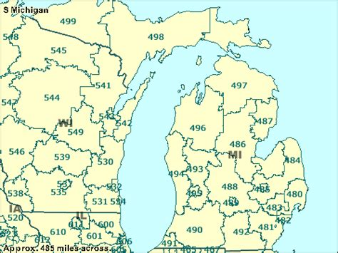 michigan area code map michigan zip codes map michigan map