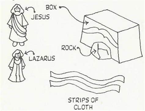 coloring pages jesus raises lazarus jesus cares for martha and lazarus crafts printables