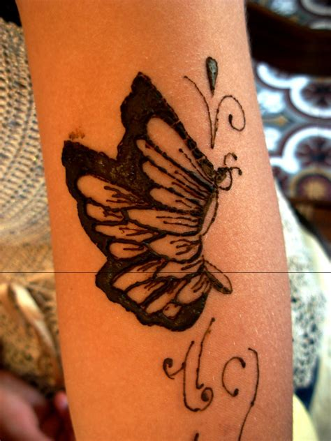 henna butterfly tattoo henna