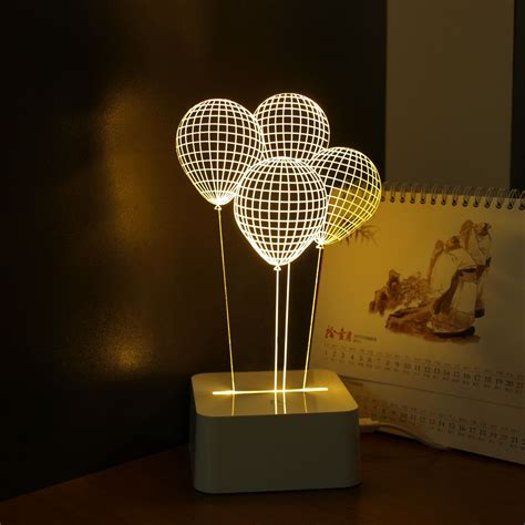 home decor led lights balloon novelty usb touch 3d night light three dimensional