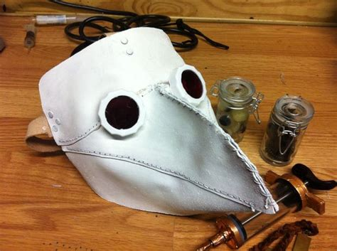 How To Make A Plague Doctor Mask With Paper Mache - how to make a leather plague doctor mask