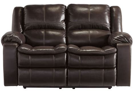 long reclining sofa long knight brown reclining loveseat from ashley 8890586