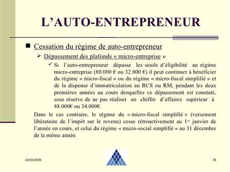 Dépassement Plafond Auto Entrepreneur by R 233 Gime Micro Social Simplifi 233 Kuwafut1t1m