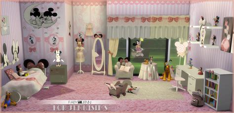 bedroom for 4 kids jennisims downloads sims 4 kids furniture bedroom minnie