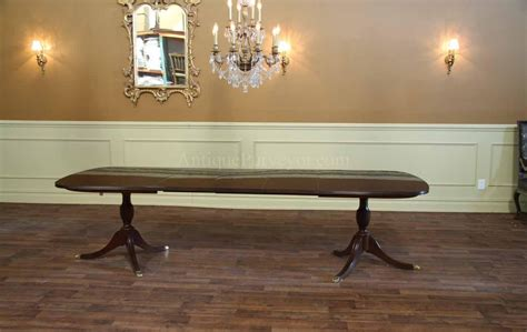 Solid Mahogany Dining Table New Solid Mahogany Dining Table With Formal Polished Finish High End Table Ebay