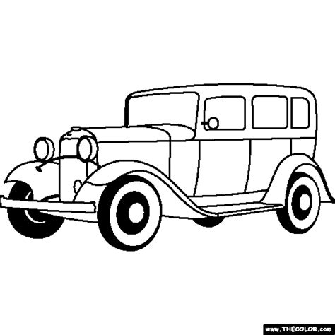 coloring page of model t car t ford clipart clipground