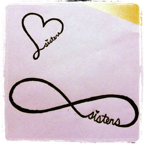 sisters infinity tattoo infinity that s so me