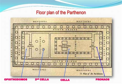 parthenon floor plan greek architecture parthenon