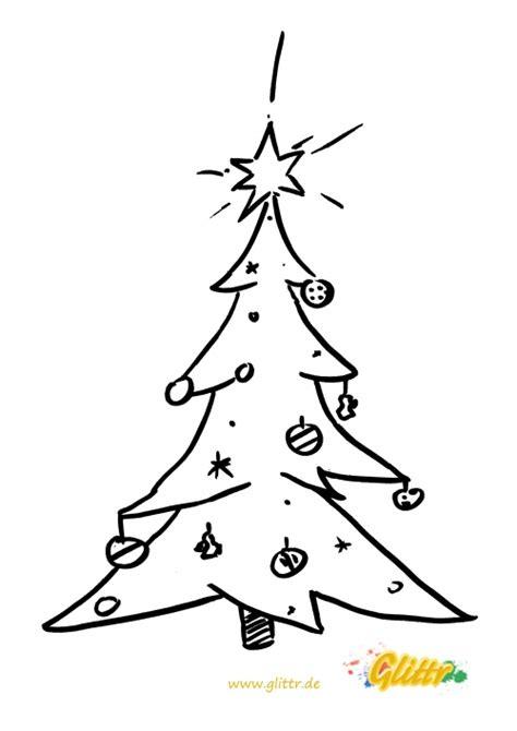 malvorlage weihnachtsbaum auch als ausmalbild oder