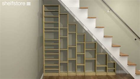 shelving under stairs home decoration